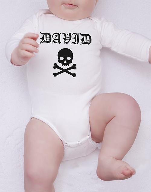 baby: Personalised Rock Star Onesie!
