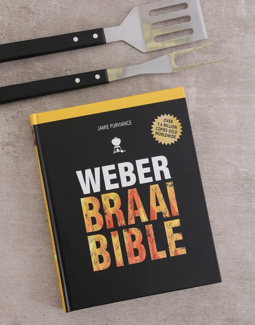 cookbooks: Personalised Weber Braai Bible Cookbook Hamper !