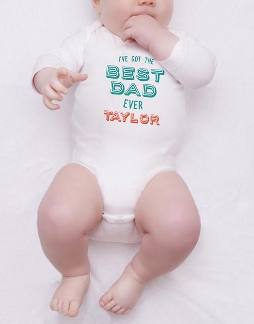 personalised: Personalised Best Dad Ever Onesie!