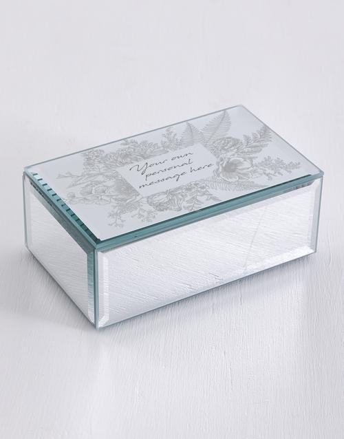 mothers-day: Personalised Botanic Mirror Trinket Box!