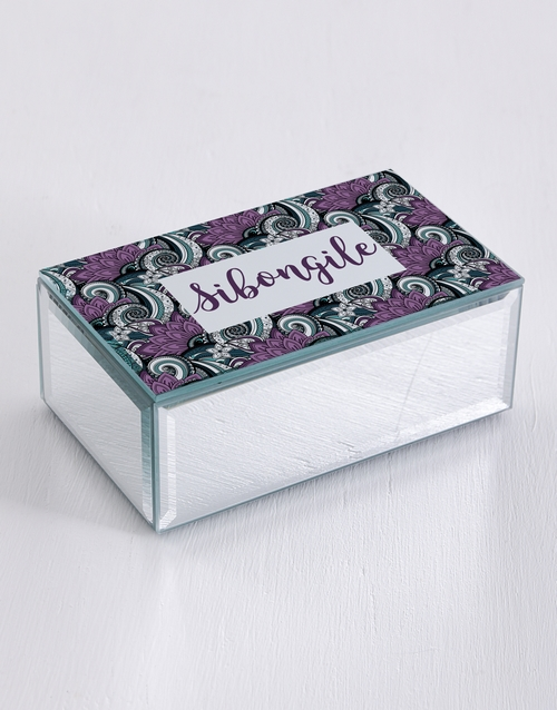 mothers-day: Personalised Paisley Mirror Trinket Box!