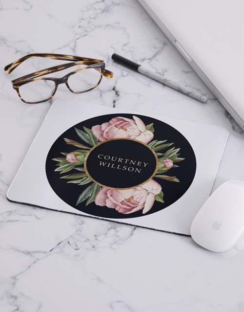 year-end: Personalised Rose Mouse Pad!