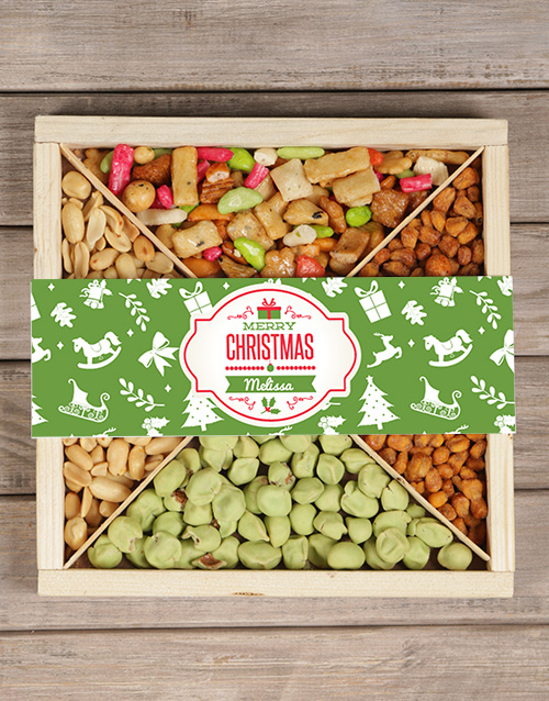 gifts: Personalised Christmas Snack Tray!