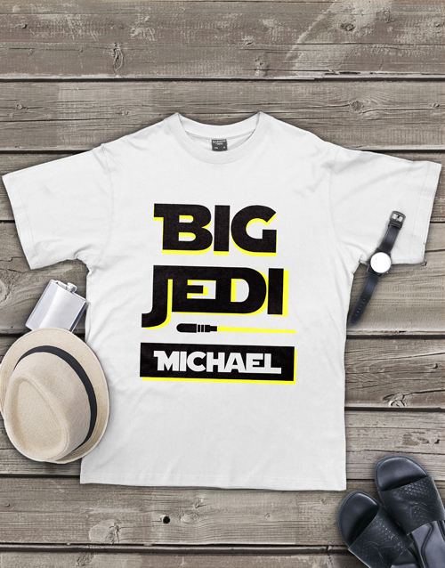 clothing: Personalised Big Jedi Mens Shirt!