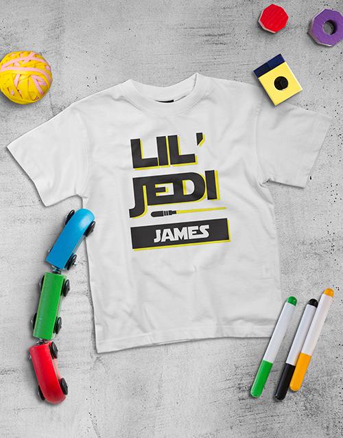 fathers-day: Personalised Lil Jedi Kids Shirt!