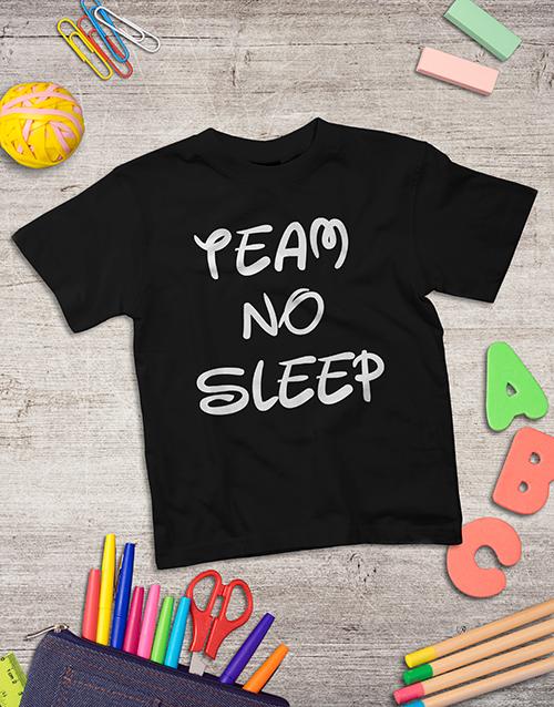 fathers-day: Personalised No Sleep Kids Shirt!