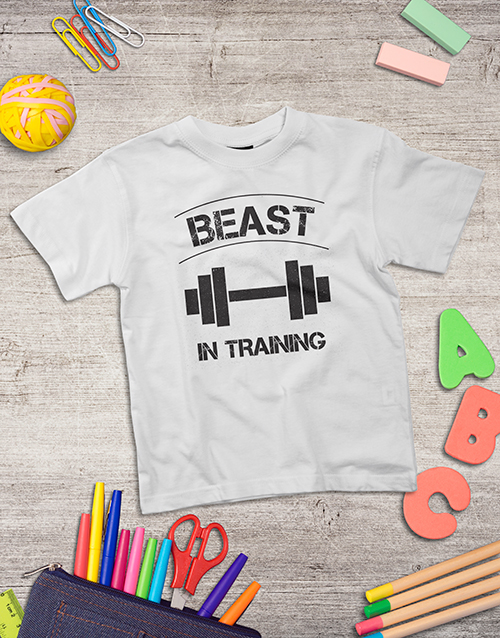 clothing: Personalised Beast In Training Kids Shirt!