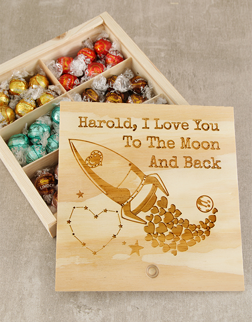 personalised: Personalised I Love You Choc Box!