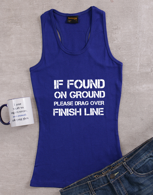 clothing: Personalised Finish Line Ladies Top!