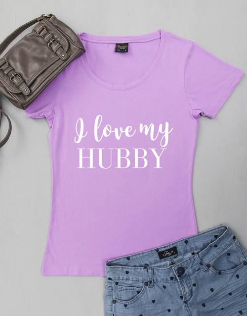 personalised: Personalised Love My Husband Ladies Shirt!