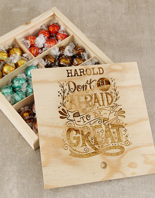 chocolate: Personalised Be Great Lindt Box!
