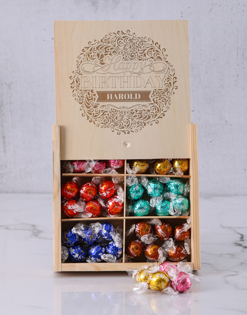 chocolate: Personalised Birthday Bliss Lindt Box!