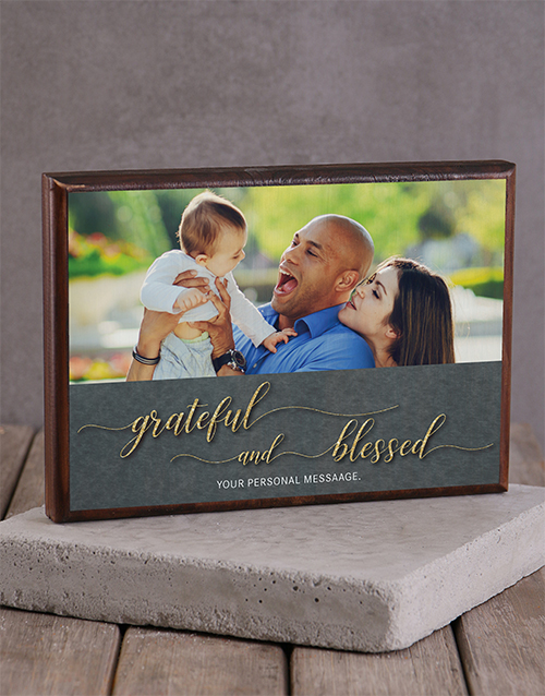 home-decor: Personalised Blessed Printed Photo Frame!