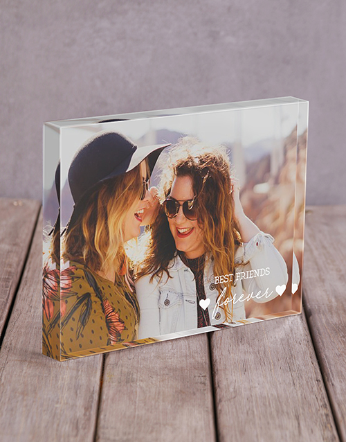 home-decor: Personalised Best Friends Acrylic Block!
