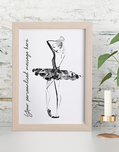home-decor: Personalised Dance Framed Wall Art!