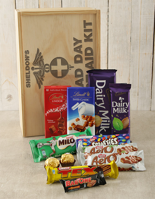 personalised: Personalised First Aid Chocolate Crate!