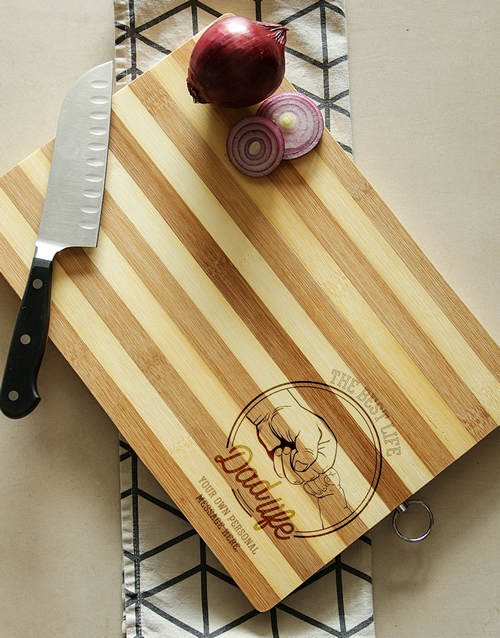 homeware: Personalised Dad Life Chopping Board!