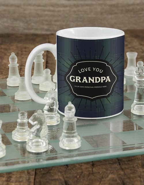 homeware: Personalised Plaid Grandpa Mug!