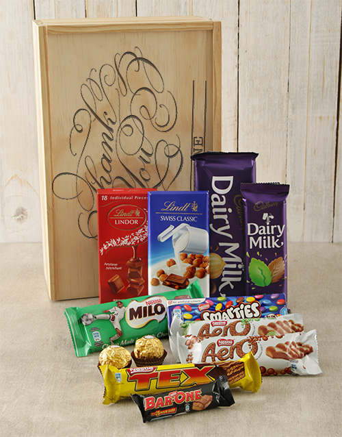 bosses-day: Personalised Thank You Chocolate Crate!
