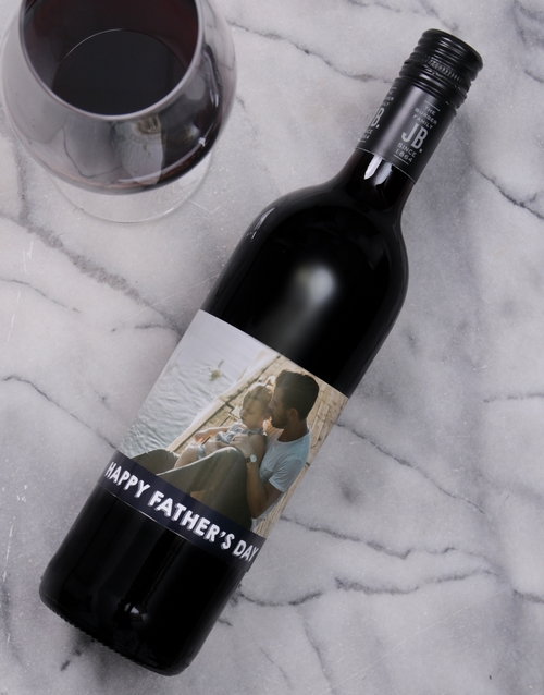 personalised: Fathers Day Personalised Photo Wine!
