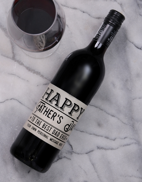 fathers-day: Personalised Best Dad Ever Wine!