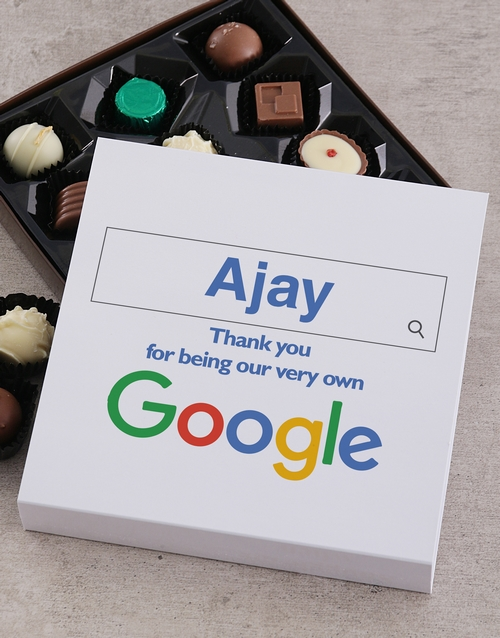 personalised: Personalised Our Google Boss Choc Tray!