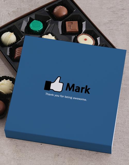 corporate: Personalised Like A Boss Choc Tray!