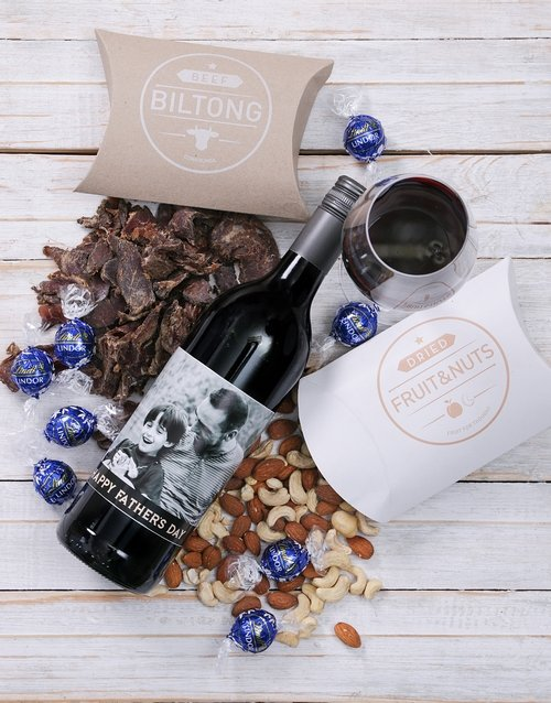 fathers-day: Personalised Photo Father Gourmet Hamper!