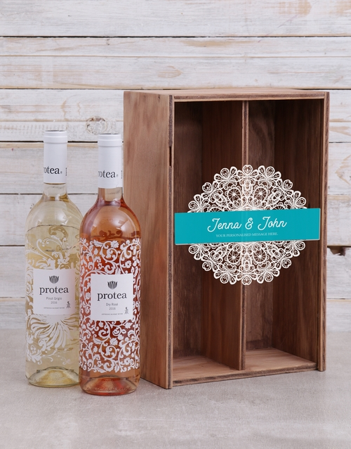 grandparents-day: Personalised Lace Printed Duo Crate!