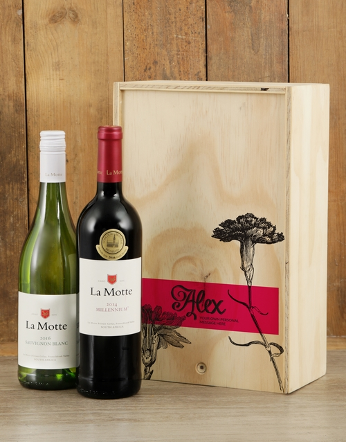 fine-alcohol: Personalised Rose Printed Duo Crate!