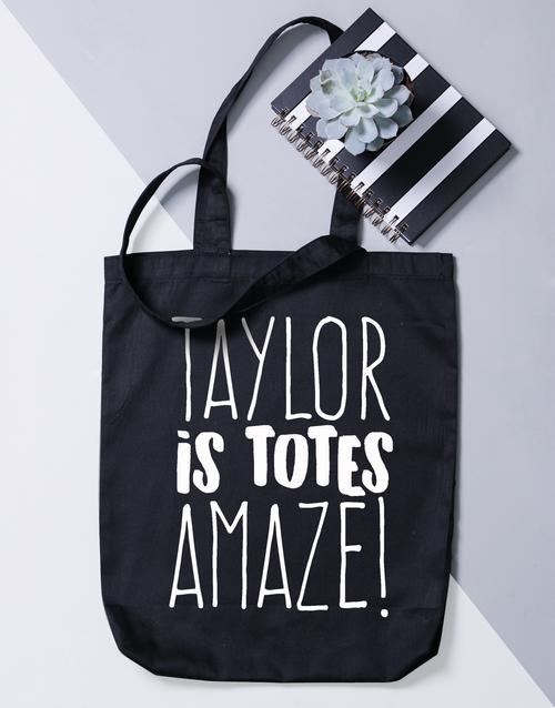 personalised: Personalised Totes Amaze Bag!