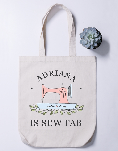 personalised: Personalised Sew Fab Tote Bag!