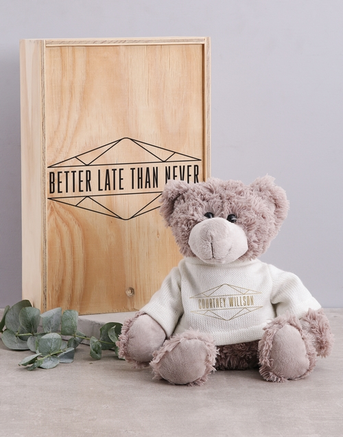 apology: Personalised Diamond Teddy in Box!