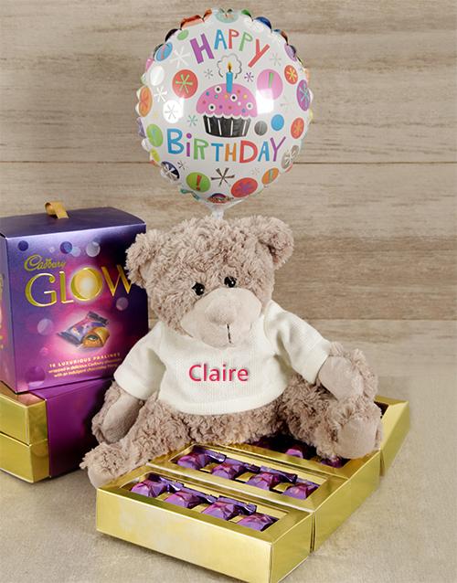 birthday: Personalised Happy Birthday Teddy Hamper!
