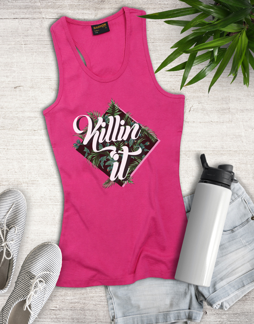 clothing: Pink Killing It Shirt for Ladies!