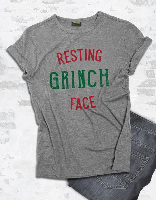clothing: Resting Grinch Face Tshirt!