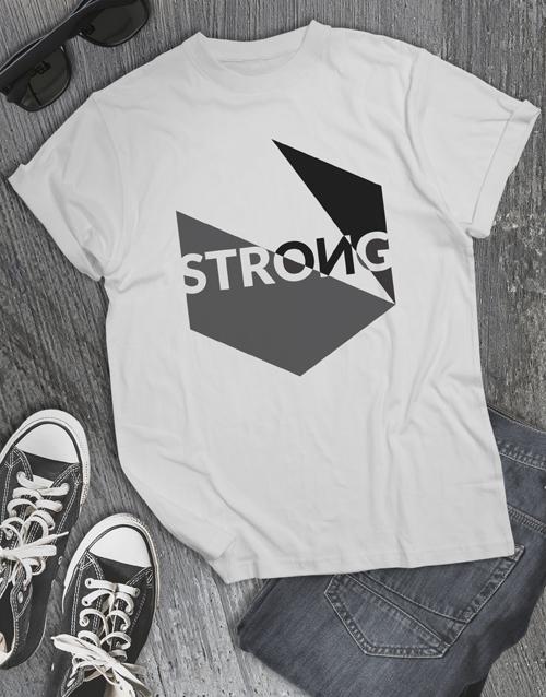 clothing: Geometric Strong Tshirt!