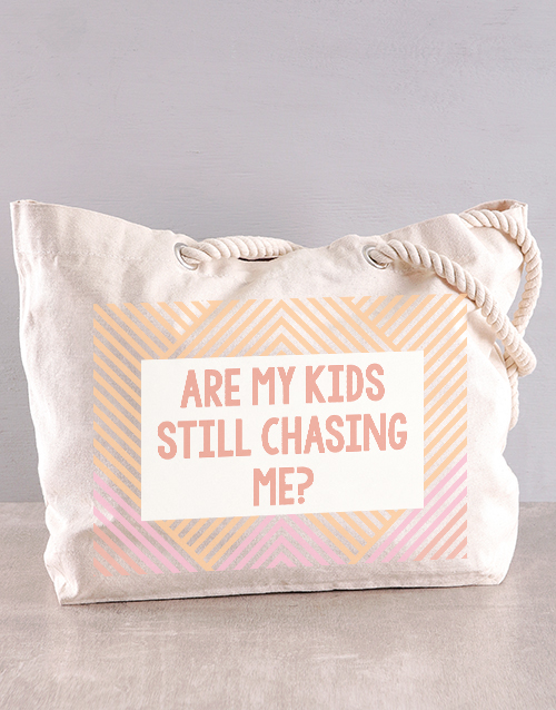 activewear: Personalised Chasing Me Beach Bag!
