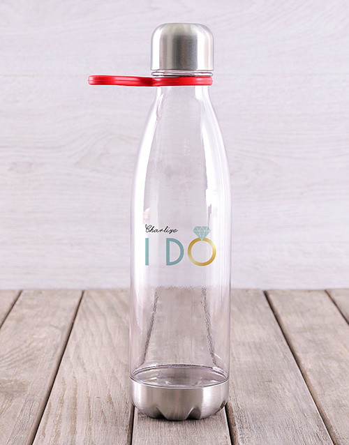 activewear: Personalised I Do Water Bottle!