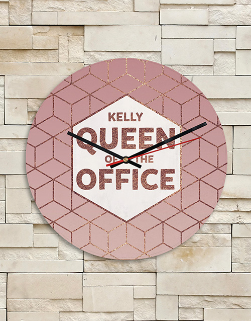 bosses-day: Personalised Queen of the Office MDF Clock!