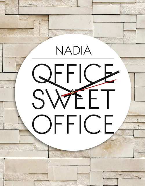 bosses-day: Personalised Sweet Office MDF Clock!