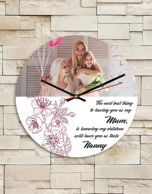 grandparents-day: Personalised Mum Nanny MDF Clock!