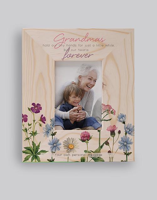 grandparents-day: Personalised Grandma Forever Photo Frame!