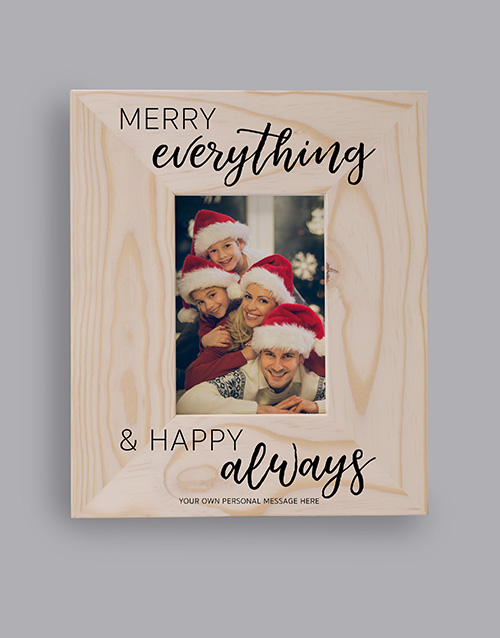 christmas: Personalised Merry And Happy Photo Frame!