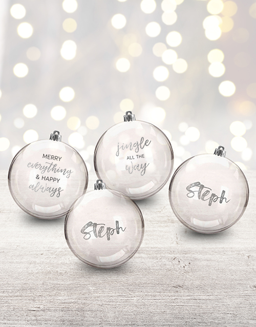 home-decor: Personalised Jingle All The Way Baubles!