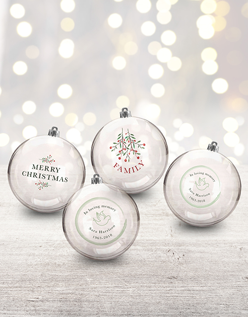 home-decor: Personalised In Loving Memory Baubles!