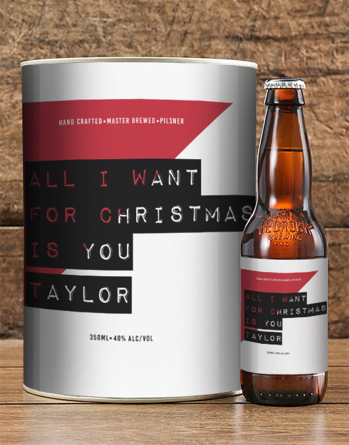 christmas: Personalised All I Want for Christmas Craft Beer!