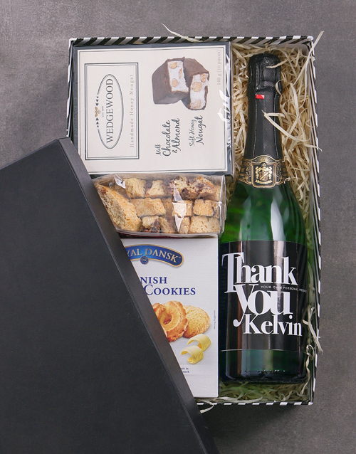 personalised: Personalised Thank You Biscotti Hamper!
