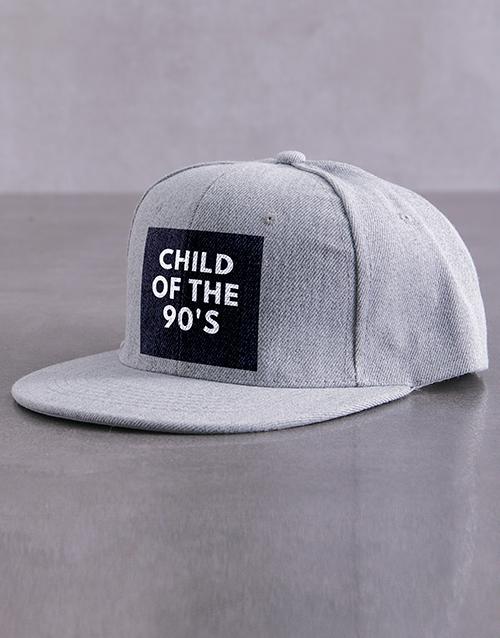 activewear: Personalised Grey Child Of Peak Cap!