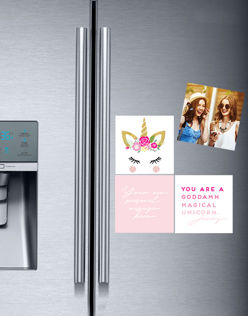 personalised: Personalised Unicorn Fridge Magnets!